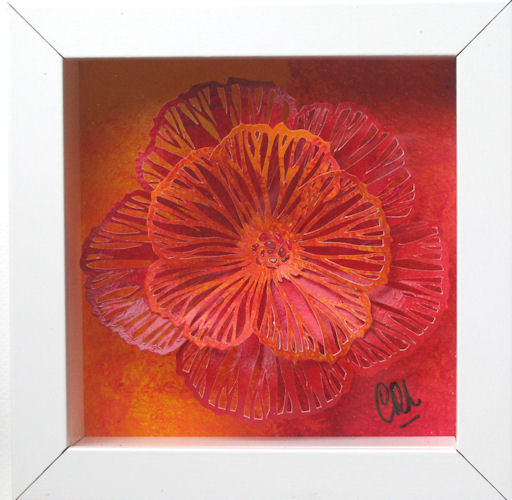Kastje Bloem oranje-rood