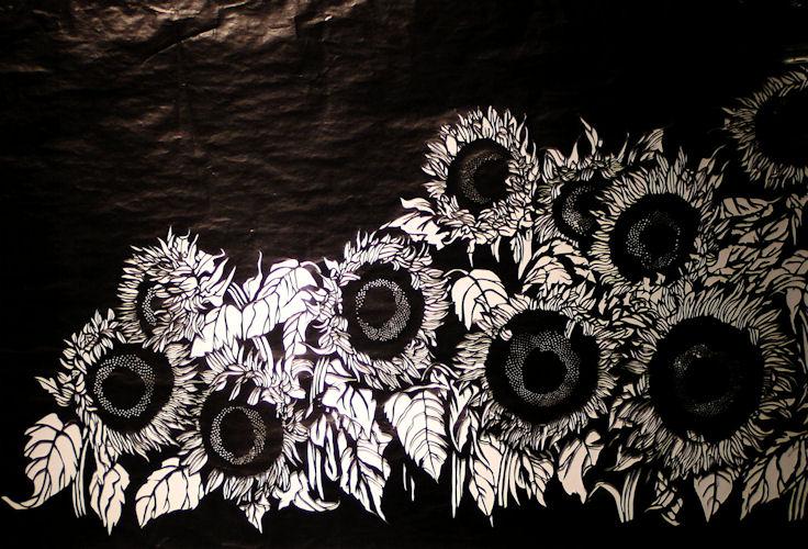 Zonnebloemen Zwart-Wit